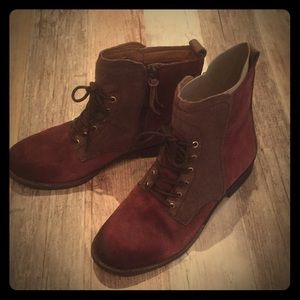Naya Agave boots suede brown burgundy size 8.5 NEW